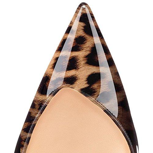 Slingback Leopardo Tacco Pompe Aguzza Della Donne Alto Punta Scarpe Sammitop Delle Sera Da Estate d6wApOq