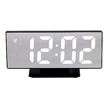 Vosarea Reloj Despertador Digital de Pantalla Grande en Forma de led para la Oficina de la Cocina del Dormitorio (Carcasa Negra, número Blanco): Amazon.es: ...