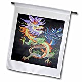 3dRose fl_46718_1 Chinese Dragon Chinese Dragon/Chinese Mythology/Dragon Creature/Yang Chinese New Year Garden Flag, 12 by 18-Inch