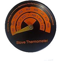 TIEMORE Temperatura del horno Termómetro de estufa de leña para estufas de leña Arriba, estufas de gas, chimeneas…