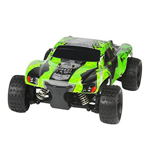 RC Car 2.4G 1/18 Scale High Speed Kids Drive Toys Buggy 45Km/h Remote Control Off-road 7.4V 1100mAH G18-2 Green