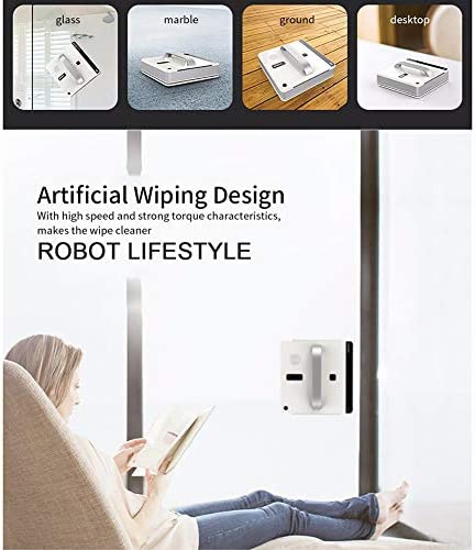 WNTHBJ Nettoyage Automatique fenêtre Robot, Intelligent Laveuse, télécommande, Anti Chute UPS algorithme de Verre Vide Outil de Nettoyage