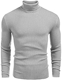 "<span class=""a-offscreen"">[Sponsored]</span>Mens Ribbed Slim Fit Knitted Pullover Turtleneck Sweater"