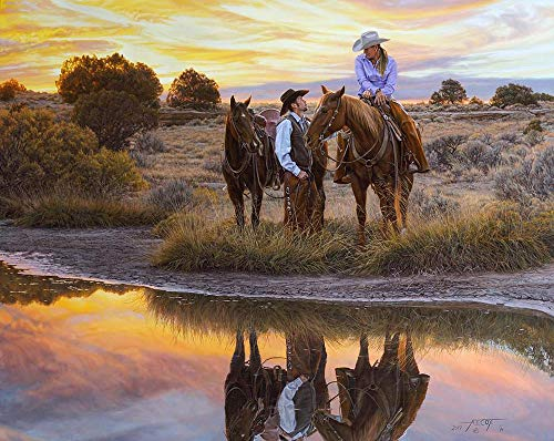 (Tim Cox Art Date Night Giclee Limited Edition Canvas Art Print Western Artwork )