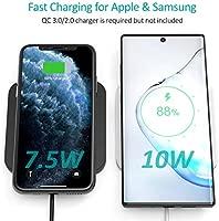 CHOETECH Cargador Inalámbrico, Qi Wireless Charger [2 Pack], 7.5W para iPhone 11/11 Pro/XS MAX/XR/X/8 Plus, 10W para Samsung ...
