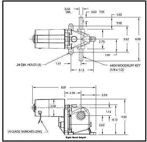 AC/DC Gearmotor, 4.5 rpm, 115V, Open Vented