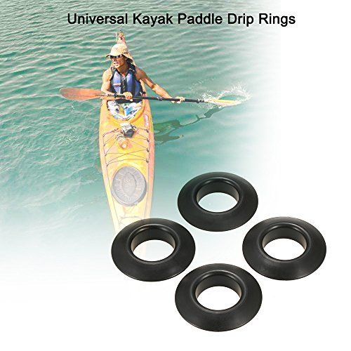 2 Drip Rings - Festnight 4pcs Universal Kayak Canoe Raft Paddle Oar Drip Rings Splash Guards Paddle Accessories Replacement