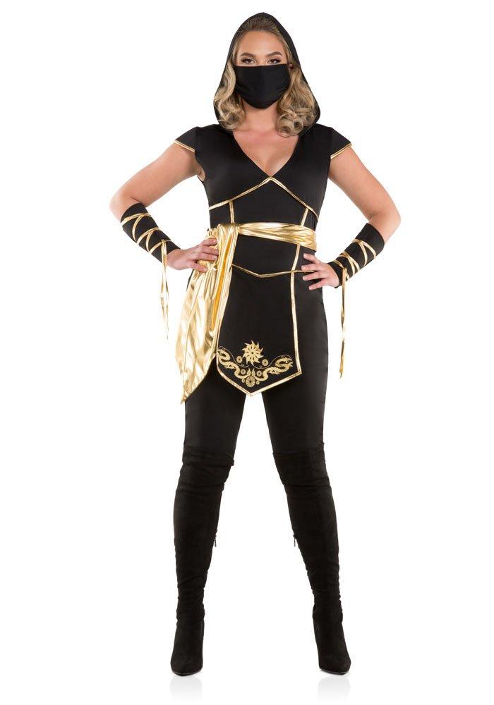 Damens's Plus Größe Ninja Assassin Fancy Dress Costume 1X