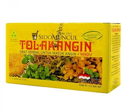 Sido Muncul Tolak Angin Herbal with Honey 12-ct, 180 Ml/ 6 fl oz (Pack of 2)