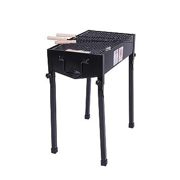 AREDOVL Estufa Que acampa al Aire Libre de la Parrilla Plegable portátil de la Estufa del BBQ del carbón de leña Desmontable (Color : Black): Amazon.es: ...