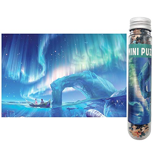 Small Jigsaw Puzzles 150 Pieces Northern Lights Mini Jigsaw Puzzles for Adults 6 x 4 Inches