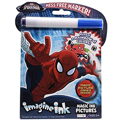 Bendon 41016 Imagine Ink Magic Ink Pictures (Ultimate Spider-Man): Toys & Games