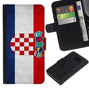 All Phone Most Case / Oferta Especial Cáscara Funda de cuero Monedero Cubierta de proteccion Caso / Wallet Case for Sony Xperia Z3 Compact // National Flag Nation Country Croatia