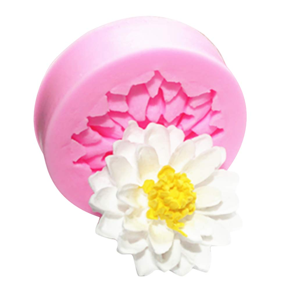 super1798 Lotus Flower Silicone Cake Mold Fondant Polymer Clay Decor  Sugarcraft DIY Mould - Pink