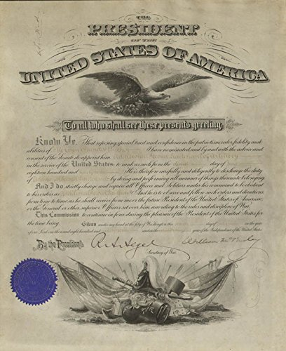 - President William Mckinley - Military Appointment Signed 07/07/1897 co-signed By: Russell A. Alger