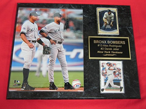 Alex Rodriguez 8x10 Photograph - Derek Jeter Alex Rodriguez Yankees 2 Card Collector Plaque w/8x10 Photo
