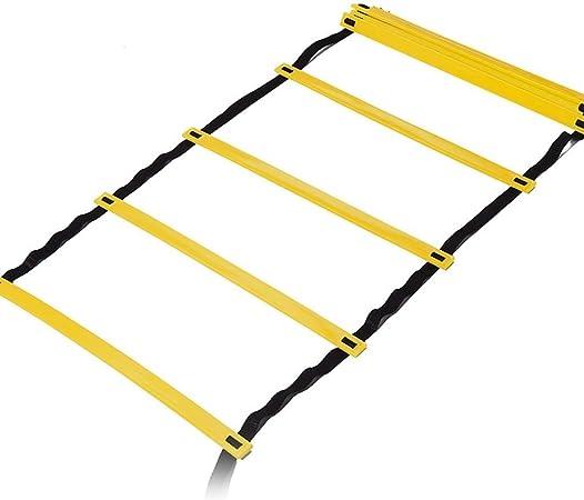 JJSFJH Agilidad General Perfil entrenamiento de la agilidad, velocidad escalera de agilidad, ágil Escalera Escalera Escalera de cuerda suave sensible Escalera velocidad Escalera de Formación Pace Esca: Amazon.es: Hogar