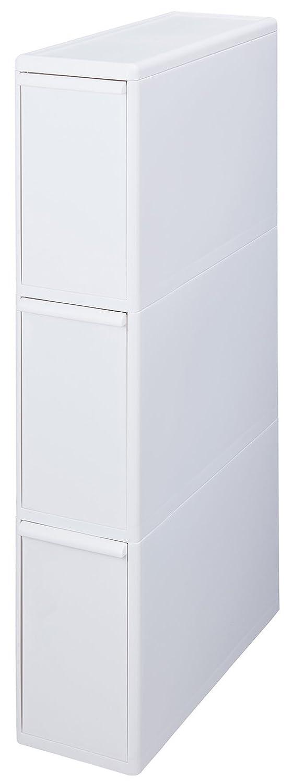Like-it 分別引出しステーション スーパースリム3段 ホワイト FBS-3 B079NL1YD1 ホワイト|スーパースリム(幅約14cm) ホワイト