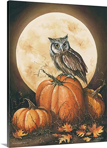 John Rossini Premium Thick-Wrap Canvas Wall Art Print entitled In the Pumpkin Patch