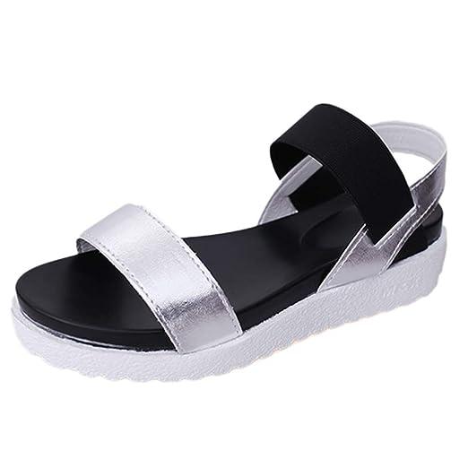 LILICAT✈✈ Casual Elegante Sandalias con Plataforma para Mujer Sandalias Mujer Verano,Sandalias de Verano de Las Mujeres Zapatos Peep-Toe Zapatos Bajos ...