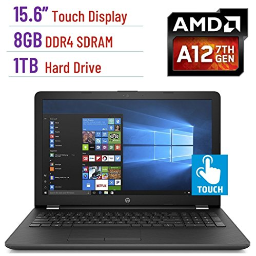 2018 HP Business 15.6-inch HD Touchscreen Laptop PC, Quad-Core AMD A12 Processor up to 3.6GHz, 8GB DDR4 SDRAM, 1TB HDD, Webcam, HDMI, DVD±RW, AMD Radeon R7 graphics, DTS Studio Sound, Windows 10 (Use Hp Laptop)