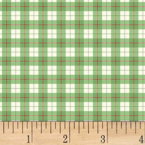 Windham Fabrics A Walk In The Woods Plaid Green, Fabric by the Yard ()