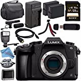 Panasonic Lumix DMC-G85 DMC-G85KBODY Mirrorless Micro Four Thirds Digital Camera (Body Only) + Battery + Charger + Sony 128GB SDXC Card + HDMI Cable + Case + Card Wallet + Tripod + Flash Bundle