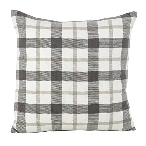 SARO LIFESTYLE Classic Plaid Pattern Cotton Down Filled Thro