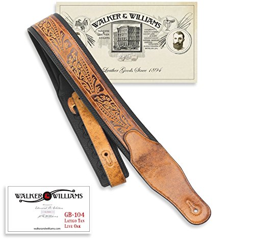 Walker & Williams GB-104 Latigo Tan Padded Strap Live for sale  Delivered anywhere in USA