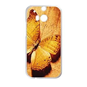 Butterfly HTC One M8 Cell Phone Case White Yxfwz