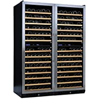 (DR) NFINITY PRO Double LX 187-Bottles Wine Cellar, Dual-Zone Cooler w/ Steel Door (S1011)