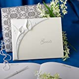 Calla lily design wedding guest book by Fashioncraft