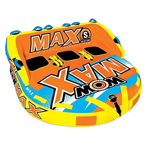 WOW Max 3 Person Towable World of Sports Water Fun ()