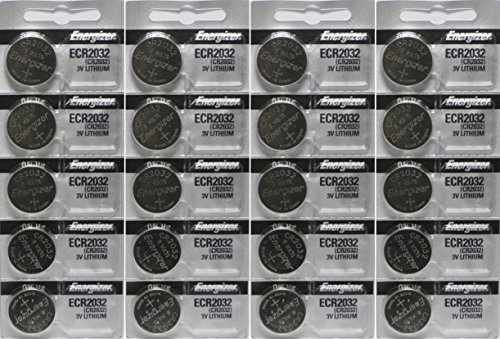 Energizer ECR2032 3-Volt Lithium Coin Batteries (20 Count) ()