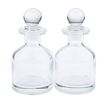 ca9f80aca038 Amazon.com: Flameer Pack of 2 Clear Glass Diffuser Bottles ...