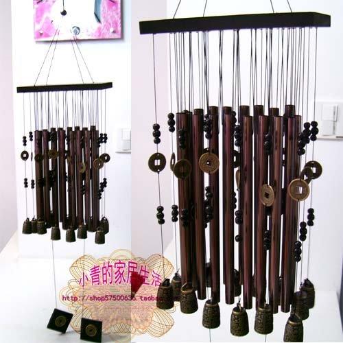 Münzen von 18 Bronze - Glocken der großen Metall - windspiel * böse Butler für wohnaccessoires Haus blockiert IST böse