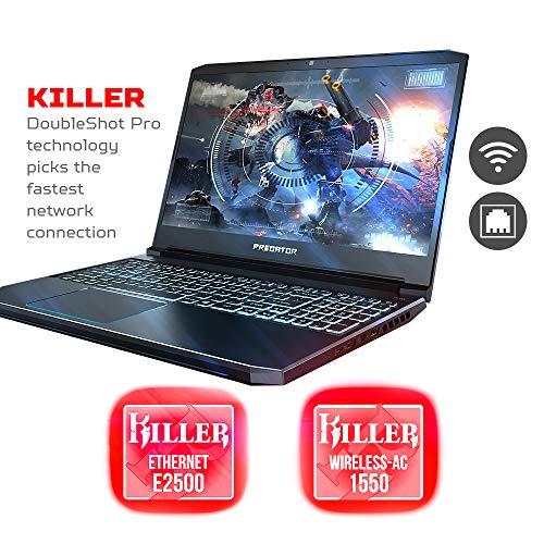 "Acer Predator Helios 300 Gaming Laptop PC, 15.6"" Full HD 144Hz 3ms IPS Display, Intel i7-9750H, GeForce GTX 1660 Ti 6GB, 16GB DDR4, 256GB NVMe SSD, Backlit Keyboard, PH315-52-78VL"