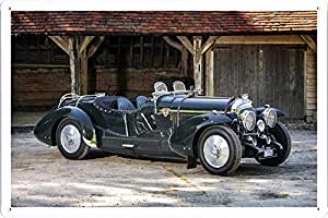 Vehicle Automobile Motor Car 24682 Petersen Engineering Bentley Torpedo Roadster Tin Sign Metal Poster Plate (20x30cm) By Auto TinSign