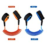 Locisne 2 Pack Child Anti Lost Strap Skin Care Wrist Link Belt Sturdy Flexible Safety Harness for Travel Outdoor Shopping, Length 1.8mm for Blue and Orange