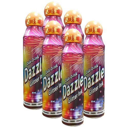 Six Pack 3oz Dazzle Orange Bingo Dauber by Dazzle