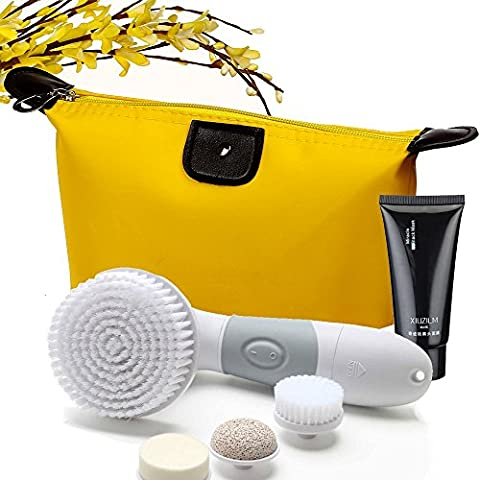Face and Body Purifying, Exfoliating/Cleansing Brush with Exfoliating Black Mask and Travel Bag - Igia Pore Cleanser