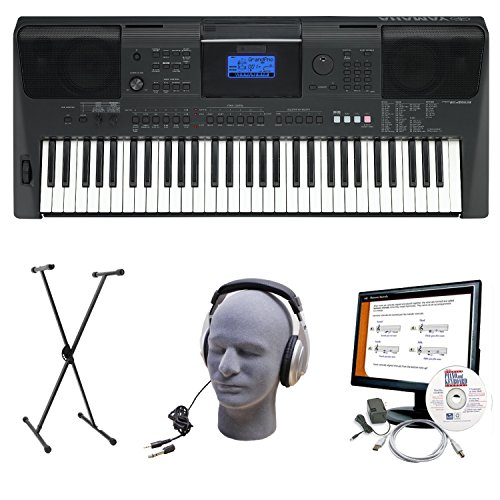 Yamaha PSRE453 Portable Keyboard with Headphones, X-Style...