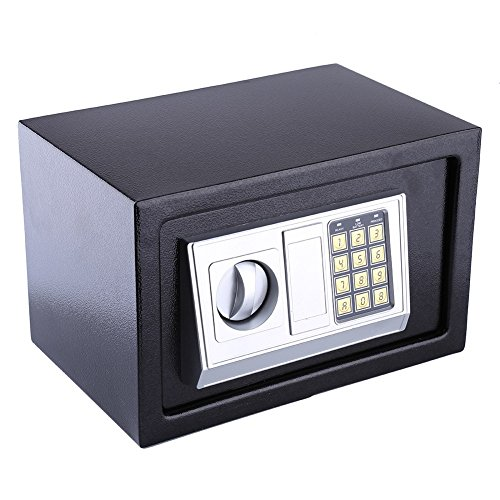 Digital Safety Box, Heavy Duty Electronic Security Safe Lock Box for Home Office, 8.5 L