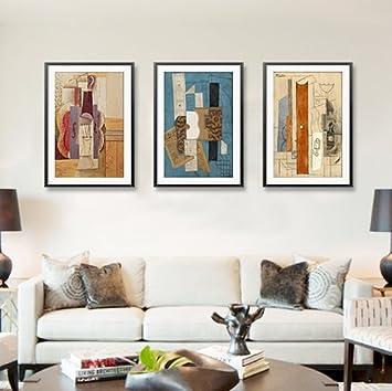 Picasso Gemälde Modern Abstrakt Style Esszimmer Schlafzimmer Wohnzimmer  Dekoration Malerei Wandmalereien Triple Gewählten Größe, 40