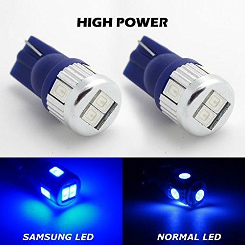 Partsam 2X High Bright Blue T10 912 Super Power LED for Backup Reverse Light 906 912 916 168 920 5730SMD High Power Bulbs For Cadillac Chevrolet Ford Dodge