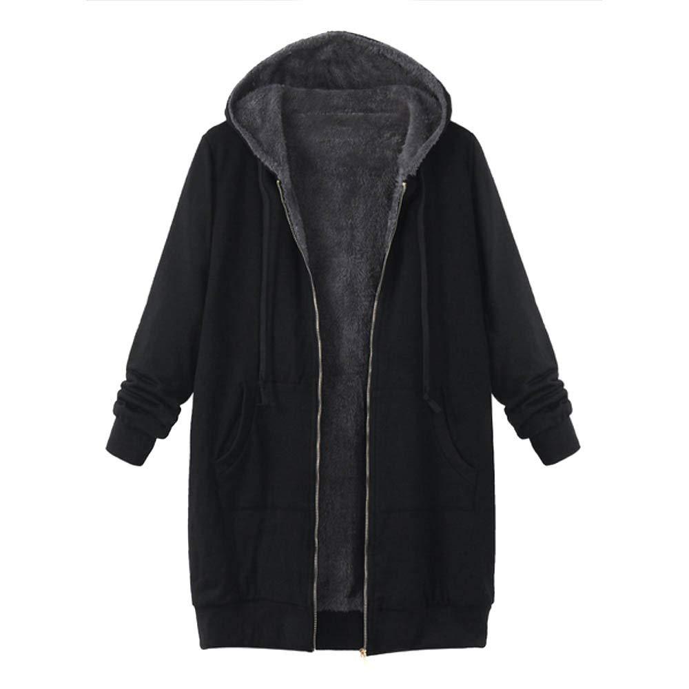 Damen Plü sch Mä ntel 2018 Neu Outwear Herbst Winter Pullover Solide Wintermantel Warme Winterjacke Felicove