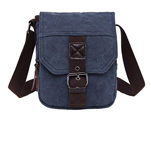 Man Canvas Shoulder Messenger Bag Walking Business Travel Package, C3 C10