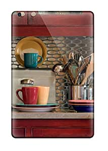 Hard Plastic Ipad Mini/mini 2 Case Back Cover,hot Kitchen With Stainless Steel Tile Backsplash Warm Red Cabinets And Multi-colored Fiestaware Case At Perfect Diy