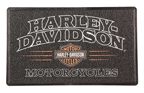 (Harley-Davidson American Legend PVC Entry Floor Mat, 18 x 30 - Black)