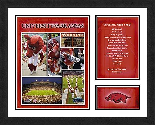 "Memories & Milestones - NCAA Arkansas Razorbacks Fight Song -  Sports Photo, 13"" x 16"""